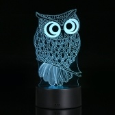 Lâmpada interna da luz acrílica transparente da noite da lâmpada da ilusão 3D visual Bateria interna