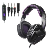 SADES 3.5mm Gaming Headphone Stereo Over-ear Headset Noise Cancellation Earphone with Mic Volume Control for Laptop Tablet Mobile Phones