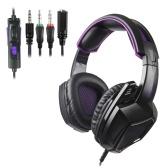 SADES 3.5mm Gaming Headphone Estéreo Over-ear Auricular Cancelación de ruido Auricular con control de volumen de micrófono para tabletas portátiles Teléfonos móviles