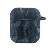 エアポッド用の迷彩ヘッドフォンケース耐衝撃性シリコン保護ケースヘッドセットカバー