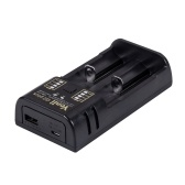 YONII Q2 Battery Charger USB 2 Slots  for 18650 18350 26650 10440 14500 16340 3.7V Li-ion AA AAA NiMH Battery  Charging