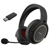 Беспроводная игровая гарнитура XIBERIA G01 2,4 ГГц, накладные игровые наушники, стерео музыкальные наушники
