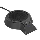 USB-микрофон для конференций Всенаправленные 360 ° микрофоны для ПК USB Plug-and-Play Video Meeting Игры Микрофон для общения