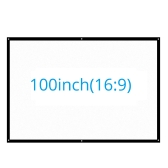 Portable 16:9 Projector Screen Optional Size Projection-screen Mattte White Home Theater Bar for Wall