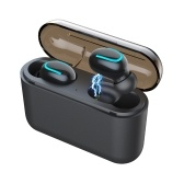 HBQ-Q32 True Wireless Bluetooth Headphones In-Ear Sport Earphones Stereo Music Earbuds Bluetooth 5.0 1500mAh Charging Box Emergency Charging