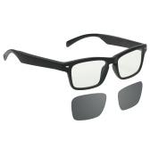 Умные аудио очки по беспроводной связи BT Музыкальные очки Музыка и громкая связь Звонок Блокировка синего света / поляризованные очки Объектив с микрофоном для мужчин Женщины