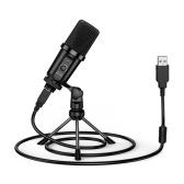 НОВЫЙ USB-микрофон BEE для компьютерной записи, микрофон с подставкой для ноутбука, студийная запись, чат, пение, встреча