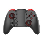 Wireless BT Gamepad Ergonomic Game Controller with Double Joysticks Stretchable Phone Bracket Compatible with Android/iOS