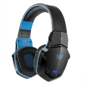 KOTION EACH B3505 Gaming Headset  Wireless BT Headphone BT 4.1 Over-ear Stereo Music Earphone with Mic for iPhone7 6 Plus Samsung Tablet PC Black with Blue