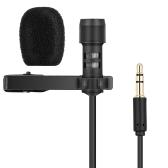 Microfono a risetta Yanmai Lavalier Microfono a clip Microfono a condensatore omnidirezionale Registratore audio Youtube / Interview / Podcast / Registrazione / Conferenza video per iPhone Smartphone Fotocamere PC