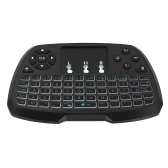 Versão Portuguesa 2.4GHz Wireless QWERT Keyboard Touchpad Mouse