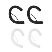 2 пары 4 PCS Мягкая силиконовая лапша Кабельный наушник Earhook Clip Ear Круглый вешалка для крючков для проволоки Earloop Replacement