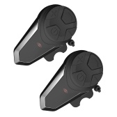 2 PCS BT Motocicleta Capacete Intercom Walkie-Talkie