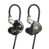 AUGLAMOUR T100 Графен Динамические наушники HiFi Бас-гарнитура Музыкальный монитор DJ Спортивные наушники-вкладыши 0,78 мм PIN-код Съемный кабель