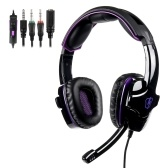 LETTON L8 Gaming Headset 3.5mm Stereo Over-Ear Headphone with Adjustable Microphone for PC Laptop Smart Phone