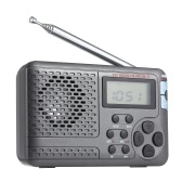 Portable Radio AM/FM/SW Pocket Radio with LCD Screen Multi-band Digital Stereo DSP Radio Receiver