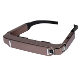 VISION-800 Smart Android WiFi Glasses 80 Inch Virtual Wide Screen Video Glasses Portable 3D Glasses Private Theater with 5MP HD Camera Bluetooth 4.0 Intelligent Media Player Rose Gold