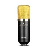 Skerei SK-888 Microfone de condensador com fio Radiodifusão e gravação profissional Microfone Sound Studio Microfone de voz Cardioid com montagem de choque e XLR para cabo de 3,5 mm para KTV Karaoke Singing Recording Kit