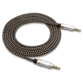 3.3FT 3.5mm Audio Cable Car Stereo AUX Cable Extension Cord Braided Wire Male To Male For Car PC Speaker Headphone