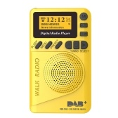 P9 Mini Pocket DAB / FM Digital Radio FM Digital Demodulator with LCD Display Portable MP3 Player TF Card Slot