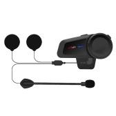 MAXTO M2 Motorcycle Helmet Intercom 6 Riders Talking Riding Walkie-talkie 1KM Bluetooth Intercom Headset Waterproof with FM Radio