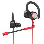 V6 3.5mm détachable dans le casque de musique de jeu d'oreille avec le microphone