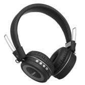 Casque sans fil Bluetooth 4.2 Casque stéréo Écouteurs audio Casque intra-auriculaire CVC 6.0 Prise en charge de la réduction du bruit AUX-IN 3,5 mm mains libres avec microphone