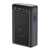 GT01 Bluetooth Speaker Portable Wireless Sound Box 5W Loudspeaker IPX6 Waterproof Outdoor Speakers Support FM Radio TF Card AUX IN Music Play with Mic Flashlight Back Clip