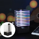 Q8 Wire-Less BT Speaker LEDs Colorful Lighting Sound Box USB Powered Built-in 850mah High Capacity Rechargeable Batterys for Home Party Leisure Time Portable