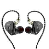 TRN BA5 Headphones 0.75mm 2pin Metal In Ear Earphone Wired Headset 3.5mm Jack HIFI Headphone Earhook for Smartphone MP3