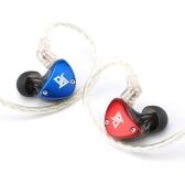 AUGLAMOUR RT-5 3,5-mm-Kopfhörer mit Kabel-Ohrhörer Hybrid-HiFi-Musik-Kopfhörer-Ersatzkopfhörerkabel 10-mm-Sport-Headset mit dynamischem Ankertreiber 1DD + 1BA