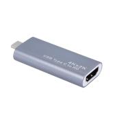 Adaptateur USB C vers HD avec port USB C Gris
