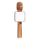 TOSING 02 Sans Fil Karaoké Microphone BT Haut-Parleur 2-en-1 Handheld Singing Enregistrement Portable KTV Lecteur pour iOS Android Smartphones Tablet PC Rose Or