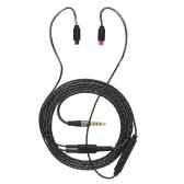 2 штыря 0.75 мм до 3.5 мм Замена кабеля для наушников Аудио кабель для обмена кабелем с 3 пультами для Audio-Technica IM04 IM03 IM02 IM01 IM50 IM70 Черный