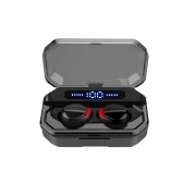 F8 Bluetooth 5.0 TWS Earbuds True Wireless Headphones Touch Control 1500mAh Charging Box Power Display IPX7 Waterproof Mini Sports Headset with Mic USB Output