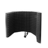 Складная регулируемая звукопоглощающая панель для записи голоса Портативный звукоизоляционный микрофонный экран Звукоизоляционная пластина