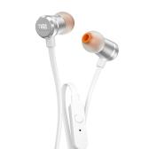 JBL T290 3,5 mm fones de ouvido com fone de ouvido com fio em prata