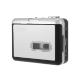ezcap231 Cassette Tape-to-MP3 Converter Save into USB Flash Disk Auto Partition Standalone Recorder w/ Earphone Black with Grey