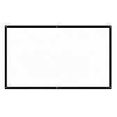 H100 100 '' Портативный проекционный экран HD 16: 9 Белый 100-дюймовый экран с диагональю экрана Складной домашний кинотеатр для проекции стен внутри помещений на открытом воздухе