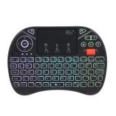 Entrada de voz Rii i8X Plus 2.4GHz retroiluminada con teclado QWERT inalámbrico
