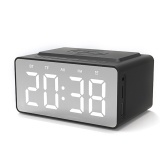 BT-508 Wireless Bluetooth 5.0 Speakers Time Screen Display Double-horn Subwoofer Alarm Clock Wireless Phone Charging Support TF Card U-Disk AUX FM Radio Hands-free with Mic