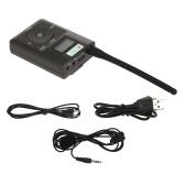 HanRongDa HDR-831 Transmisor FM digital estéreo portátil Mini estación de radio FM Transmisión con micrófono Audio Lanzamiento 500 metros Ranura de tarjeta TF Entrada de micrófono AUX IN
