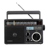 Retekess TR618 FM/AM/SW 3 Band Radio Portable Radio Receiver with USB TF SD Player Big Speakers High Volume Radio with MP3 Function