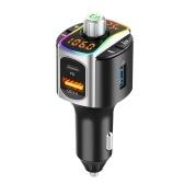 BC67 Bluetooth 5.0 Автомобильный FM-передатчик Автомобильный комплект громкой связи QC3.0 + PD3.0 Автомобильное зарядное устройство