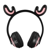 ZW-19 Sans Fil Bluetooth Glowing Deer Antler Casque avec Micro