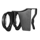 Dobrável Realidade Virtual Óculos 3D VR Óculos privada Cinema 3D para telefones Android iOS janelas inteligentes com 3,5 a 6,0 polegadas Preto