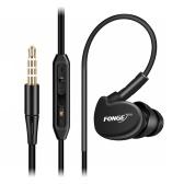 FONGE S500 Fone de Ouvido Intra-Auriculares à Prova de Água