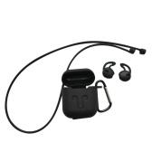 4in1 silicone case capa fones de ouvido bolsa anti-lost caso fone de ouvido sem fio para airpods mosquetão earpods capa