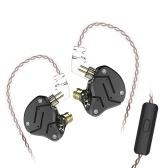 KZ ZSN 3,5 мм Проводные наушники-вкладыши HiFi с микрофоном