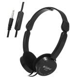 KUBITE T-111 3.5mm有線オーバーイヤーヘッドフォン折りたたみ式スポーツヘッドセットポータブルミュージックゲームイヤホン(マイク付き)子供MP4 MP3スマートフォンラップトップタブレットPC